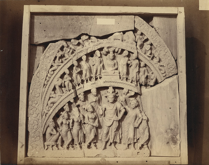 Sculpture of a Buddhist 'chapel' or niche, from Nullah, Sanghao, Peshawar District